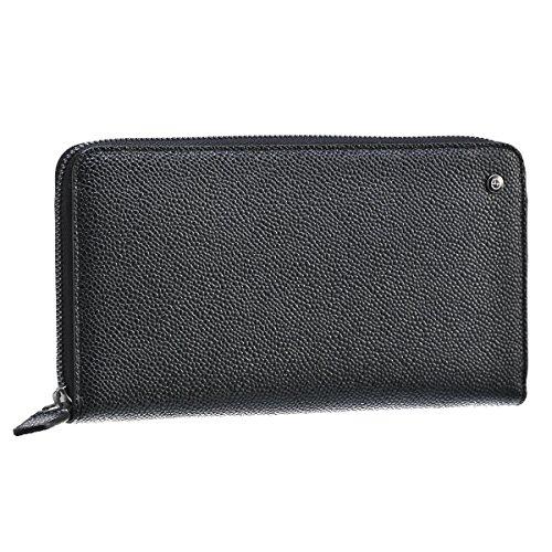 Giorgio Armani(ジョルジオアルマーニ) 財布 メンズ 型押しカーフスキン ラウンドファスナー長財布 ブラック Y2R142-YCR3J-80001 [並行輸入品] B071GSR733
