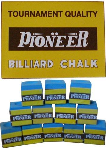 Caja de 12 azul Pioneer torneo calidad tizas de billar y snooker ...