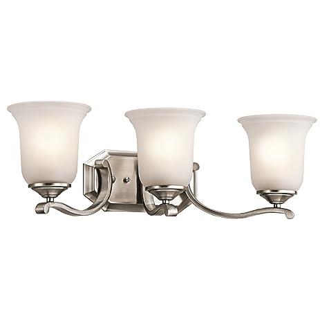 amazon com classic pewter 24in wide 3 bulb bathroom lighting
