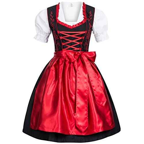 Para leathers Rojo Traje Mujer Piezas 3 Con Negro Regional Gaudi BHwqXxFB