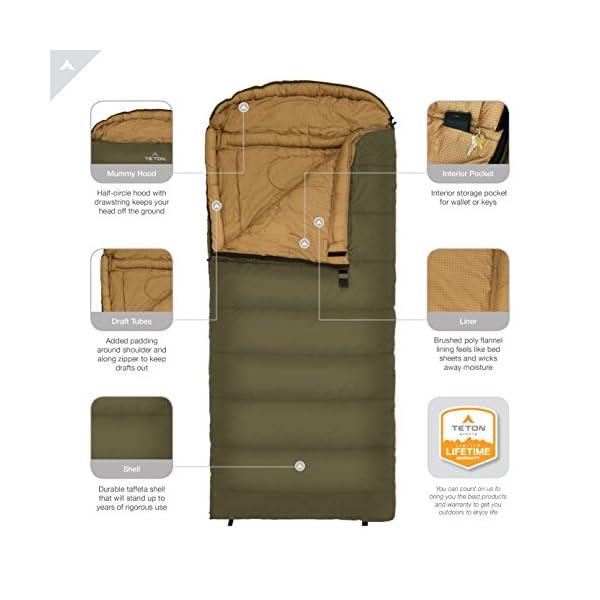 TETON Sports Celsius XXL Sleeping Bag 0 Degree Sleeping Bag Great For Cold Weather Camping Lightweight Sleeping Bag Hiking Camping