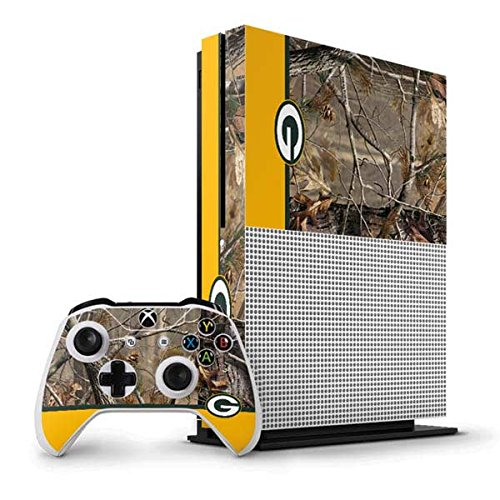 (NFL Green Bay Packers Xbox One S Vertical Bundle Skin - Realtree Camo Green Bay Packers Vinyl Decal Skin For Your Xbox One S Vertical Bundle)