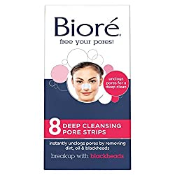 Biore Deep Cleansing Pore Strips For Nose, 8 Count