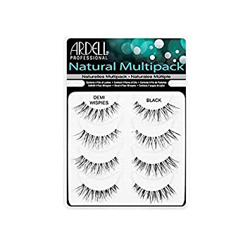 0dd529d8bb1 Amazon.com : Multipack DEMI Wispies Black Ardell Fashion Lash False Lashes  Eye Lashes Natural [4 Pair of Lashes.] : Beauty