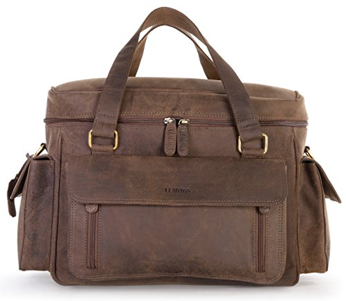 LEABAGS Zens genuine buffalo leather camera bag in vintage style - Nutmeg by LEABAGS