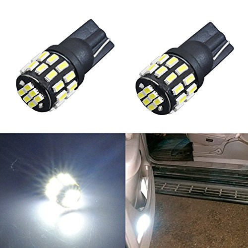 JDM ASTAR Extremely Bright 30-EX Chipsets 168 175 194 2825 W5W T10 New Style LED Bulbs,Xenon White
