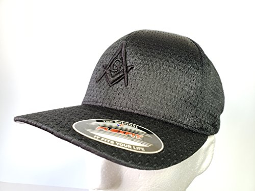 Masonic Hat Flexfit 3D Embroidery (All Black)