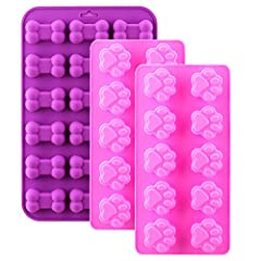 About the Product:Size and Color:Bone Mold: 9.1*5.7*0.6inch (Purple)Paw Mold: 8.6*4.3*0.8inch(Pink)Why choose WARMWIND silicone molds?√FDA Approved&BPA Free√100% Food Grade Silicone√Flexible&Easy to Release√Easy Clean&Dishwasher Safe√Oven and...