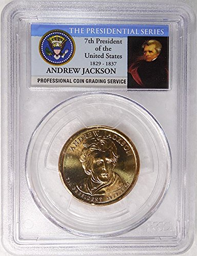 John Quincy Adams Dollar Coin (2008 D Pos. A John Quincy Adams Presidential Dollar PCGS MS 66 FDI Presidential Label Holder)