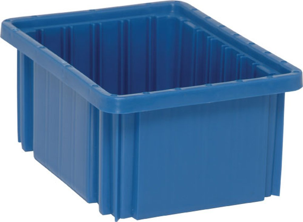Quantum Storage Systems DG91050BL Dividable Grid Container 10-7/8-Inch Long by 8-1/4-Inch Wide by 5-Inch High, Blue, 20-Pack