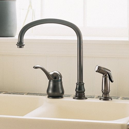 American Standard 3821.834.002 Jasmine Single-Control Kitchen Faucet with Hand Spray, Polished Chrome