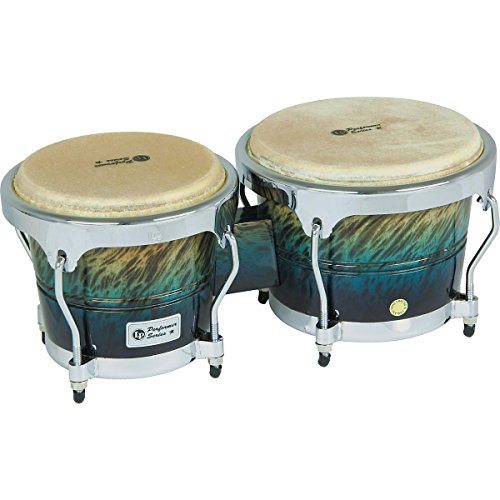 (LP Performer Series Bongos with Chrome Hardware Blue Fade)