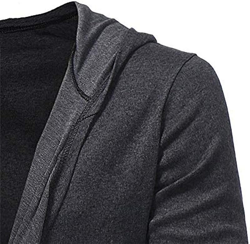 Cardigan Men Knitted Sweater Solid Casual Warm Slim Long Bequeme Größen Sleeved Plain Collar Shirt Cape Jacket Autumn Winter: Odzież