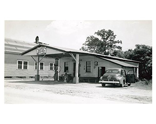 1941 Pure Oil Gas Station Photo Poster Sellers SC Gas Pump Pepsi Cola