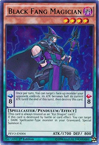 Yugioh 1st Ed Black Fang Magician PEVO-EN004 Ultra Rare 1st Edition Pendulum Evolution Cards (Edition Yu Cards Gi 1st Oh)