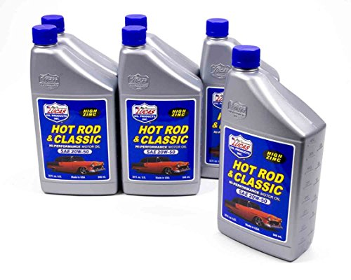 Lucas Oil Hot Rod and Classic Car 20W50 Motor Oil 1 qt Case Of 6 P/N 10689-6 ()