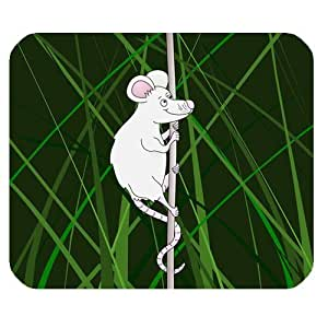 Generic Personalized Cartoon Mouse Climbing Grass for Rectangle Mouse Pad