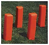 Football Weighted Corner Pylons in Orange - Set of 4 by Stackhouse Athletic