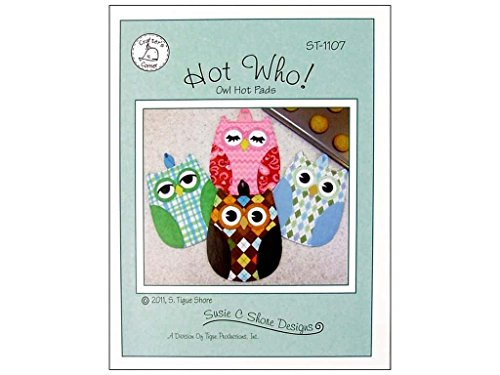 Hot Who! Owl Hot Pad Patterns from Susie C Shore Designs 9