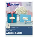 Avery Pearlized Address Labels, 1 x 2.62 Inches, Pack of 90 Labels (80509)