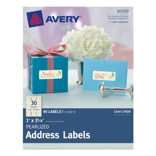 Avery Pearlized Address Labels 80509