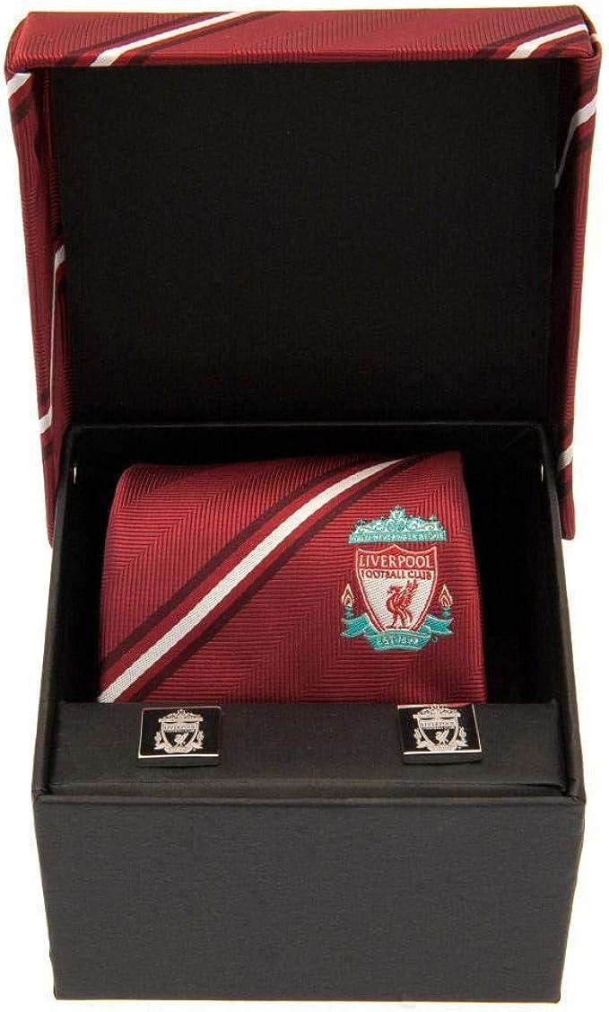 Liverpool FC - Juego de corbata y gemelos (Talla Única) (Rojo ...