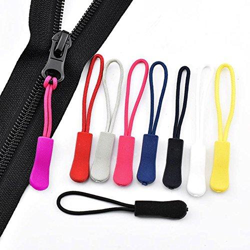 Traveling Case EuTengHao 120 Pcs Zipper Pulls Zipper Extension Pulls Nylon Cord Zipper Tag Replacement for Clothes Purse Zipper Replacement Tag Tents Handbag 12 Colors Backpacks