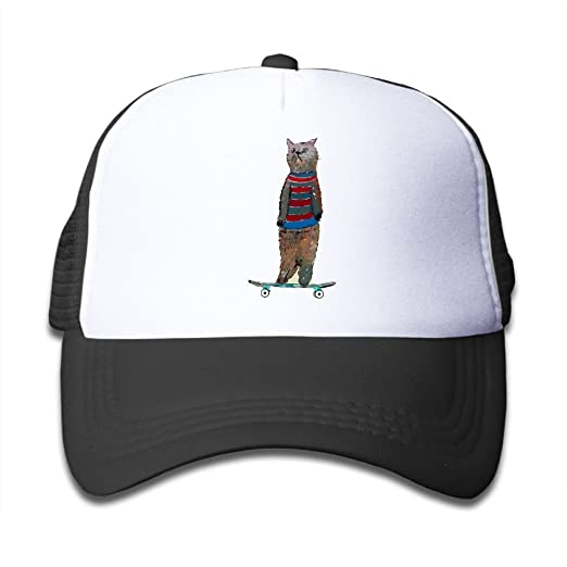 wholesale sales differently exclusive range Amazon.com: Kids Skate Cat Mesh Caps Child Cool Baseball Cap ...