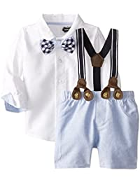 Mud Pie Baby Boys' Suspender Short Set