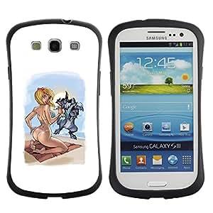 Suave TPU GEL Carcasa Funda Silicona Blando Estuche Caso de protección (para) Samsung Galaxy S3 I9300 / CECELL Phone case / / sexy drawing woman babe girl blonde /