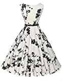 Sleeveless Cocktail Party Swing Dresses Floral Print Size L F-11