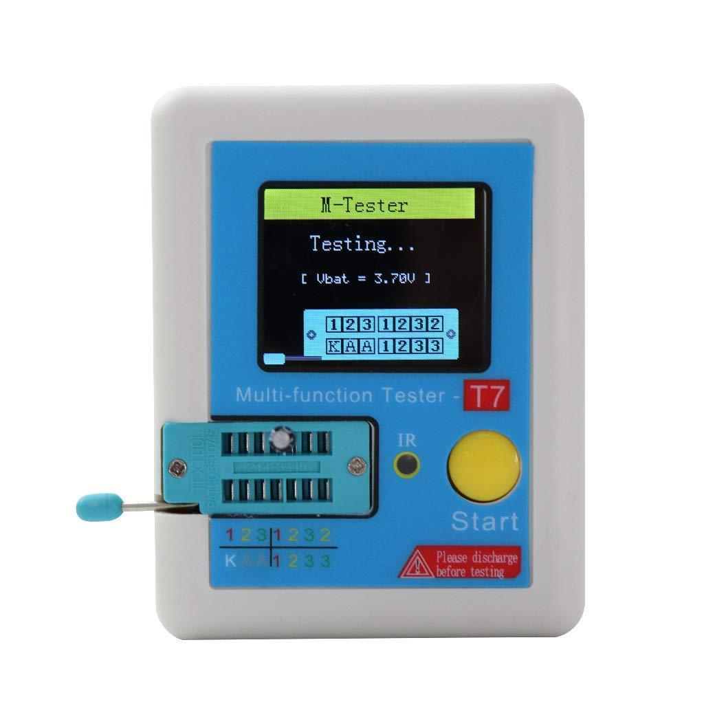KKmoon LCR-t7 Transistor Tester TFT Diodo Triodo Capacitanza Tester ESR Tester NPN PNP MOSFET IR Multifunzione Tester Multimetro