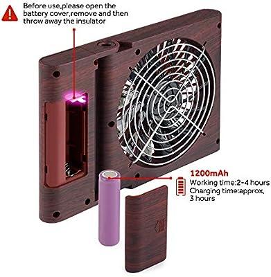 GeeRic Ventilador de Mesa, Mini Ventilador portátil USB, Ventilador Plegable silencioso para Home Office y Cuaderno de Viaje con 3 velocidades Marrón Oscuro: Amazon.es: Electrónica