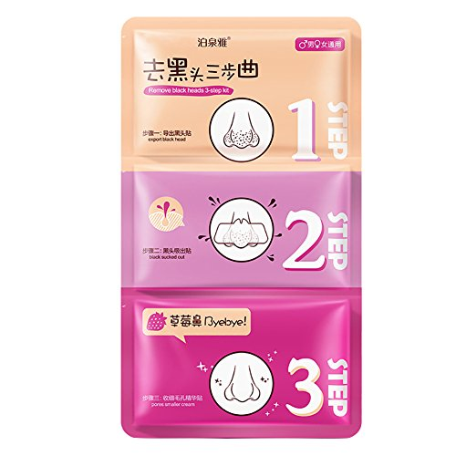 RedDhong Pig Nose Clear Black Head 3-Steps Kit Face Deep Cleaning Blackhead Remove Mask