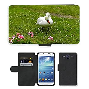 Hot Style Cell Phone Card Slot PU Leather Wallet Case // M00116493 Swan Water Bird White Nature Swans // Samsung Galaxy S3 S III SIII i9300