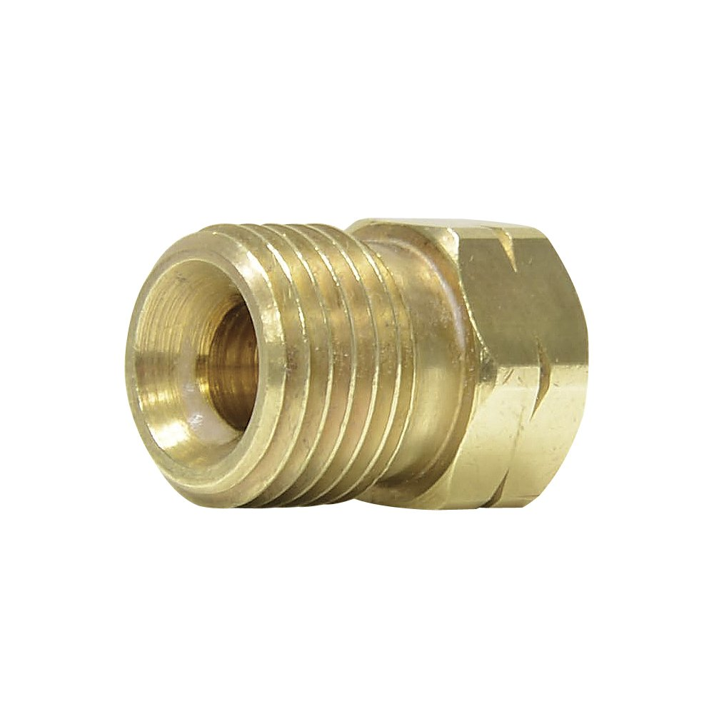 Uniweld F58L Brass Welding Handle Adaptor'A' to'B' from'A' Connection LH to'B' Hose Nut LH