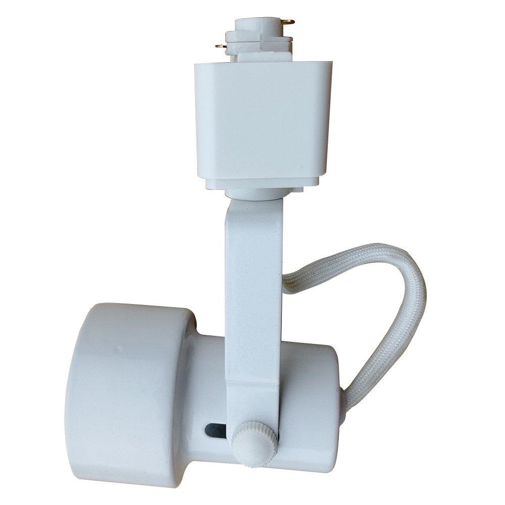 King SHA Universal LED Track Lighting Heads with MR16 GU10 led Spotlight Bulb 50W Halogen Equivalent 3000k White
