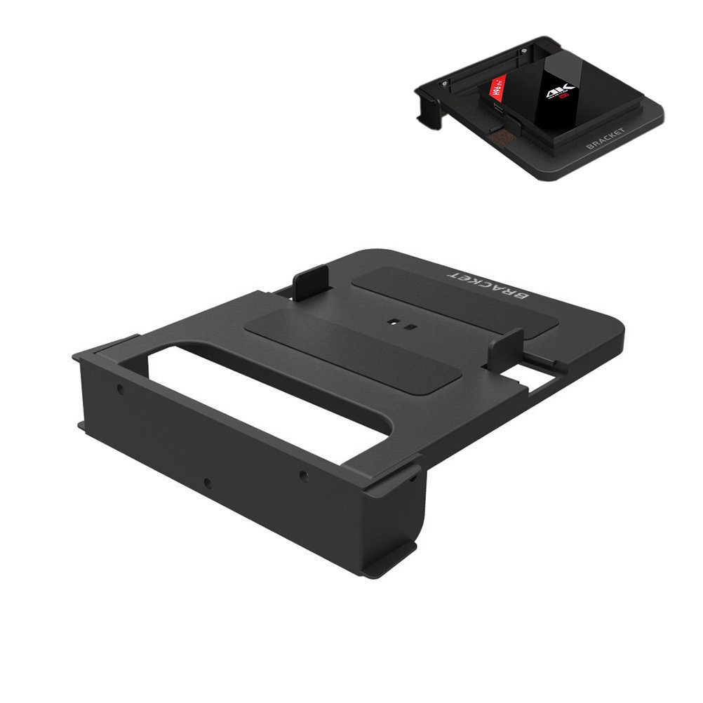 Adjustable Wall Mount Bracket for TV Box Flexible TV Box Bracket Stand Black Wall Mount shelf for TV Box and small media device
