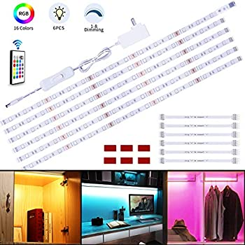 Rgb Under Cabinet Lighting 6 Pcs X 19 6in Led Strip