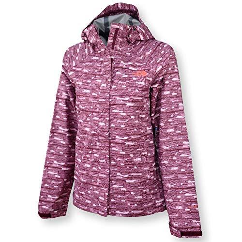 The North Face Women Novelty Venture Rain Jacket, Deep Garnet Red Print, ()