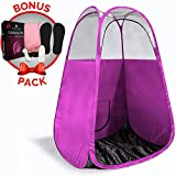 Cheap Spray Tan Tent (Pink) The Best, Bigger Than Others, Folds Easily In 30 Seconds and Has NO Logo On Tent Itself! Professional Sunless Tanning Pop-Up Spraying Booth for Airbrush Art, Makeup & Painting