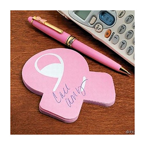 - 12 STICKY NOTEPADS - Pink Ribbon Cure breast cancer awareness