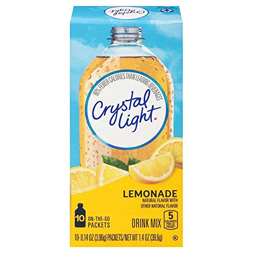 Lemonade Light Crystal - Crystal Light Lemonade, 10 On-the-Go Packets (Pack of 4)
