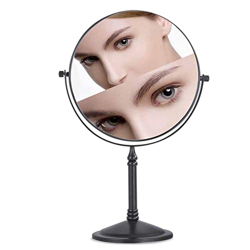 Nicesail Tabletop Makeup Mirror, Double-Side 1X-7X, 360 Swivel Cosmetic Mirror for Table Desk, No Light Oil Rubbed Bronze 8 Inch, 7X