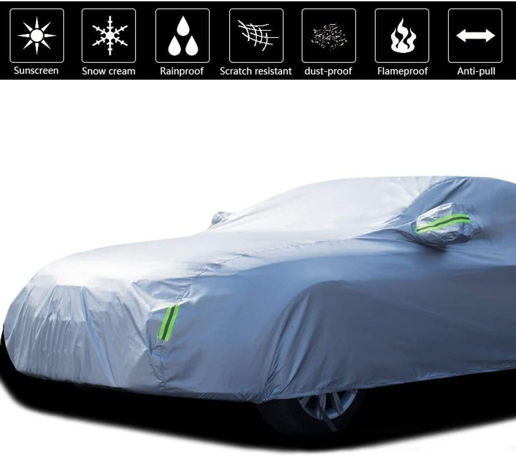 Color : Black NYSCJJJ Car Cover Compatible With BMW X7 Car Cover Sun Protection Rain Dust Antifreeze Thickening Insulation Oxford Cloth Car Cover A Tarpaulin