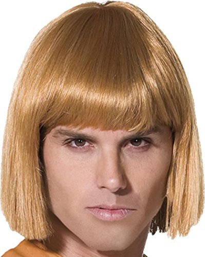 Mens Fancy Dress Party Costume Headwear False Hair He-man Wig Blonde -