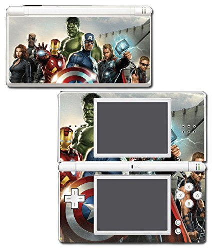 Avengers Nick Fury Hawkeye Black Widow Thor Hulk Iron Man Video Game Vinyl Decal Skin Sticker Cover for Nintendo DS Lite System Protector (Stickers Lite Nintendo Ds)