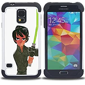 Jordan Colourful Shop - Light White Saber Han Movie Sci Fi Space For Samsung Galaxy S5 I9600 G9009 G9008V - < Llevar protecci????n de goma del cuero cromado mate PC spigen > -