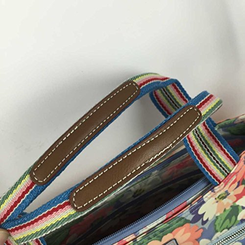 Strap Cath Daisy Matt Painted Zipped Handbag Kidston 15SS Detachable Oilcloth with Pastel BrWqBx6pnA