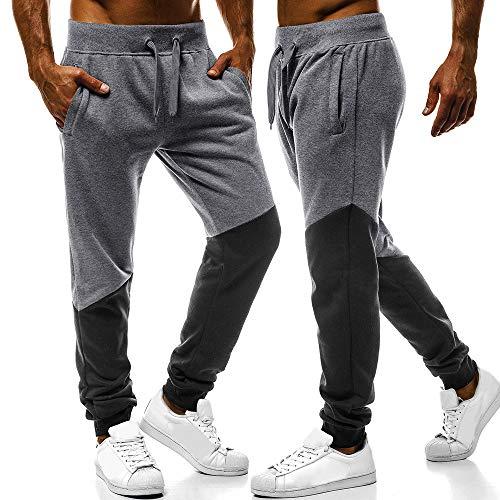 Zarupeng Fitness Completi Fit Cuciture Abbigliamento Flessibili Scuro Estiva Moda Sportivi Palestra Da Uomo Pantaloni Uomo Grigio Con pantaloni Casual sportivi Slim Allenamento waUIqxS